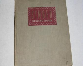 Vintage 1951 Singer sewing book hardcover instruction manual