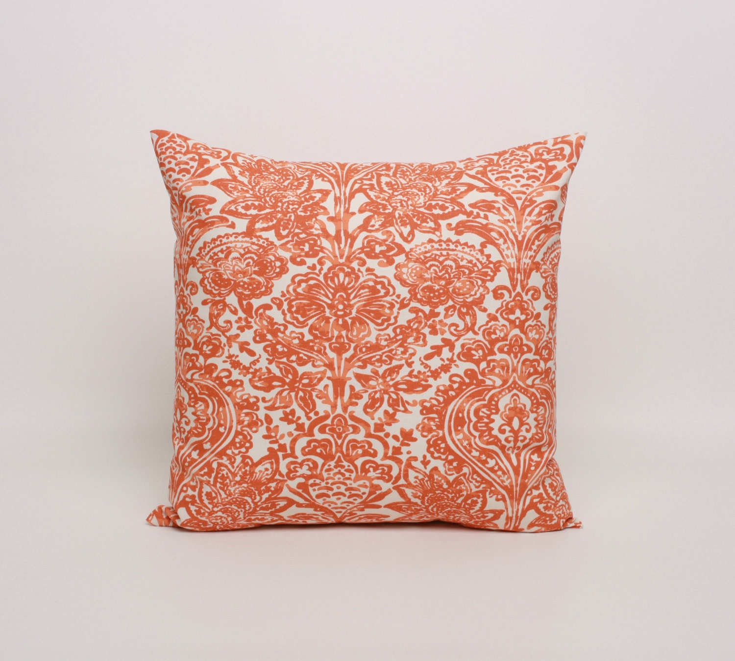 Orange Decorative Pillows Couch : Orange Pillow Cover Orange Cushion Cover 20x20 Throw Pillow