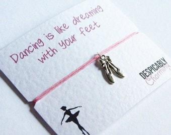Ballet Friendship Bracelet - Dance bracelet - gift for dancer - dance gifts - ballet bracelet - ballerina gift - dance shoes - BFF gift