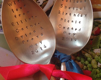 Hand Stamped Large Serving Spoon - Personalised