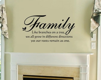 Family Branches Wall Lettering Stencil WW255