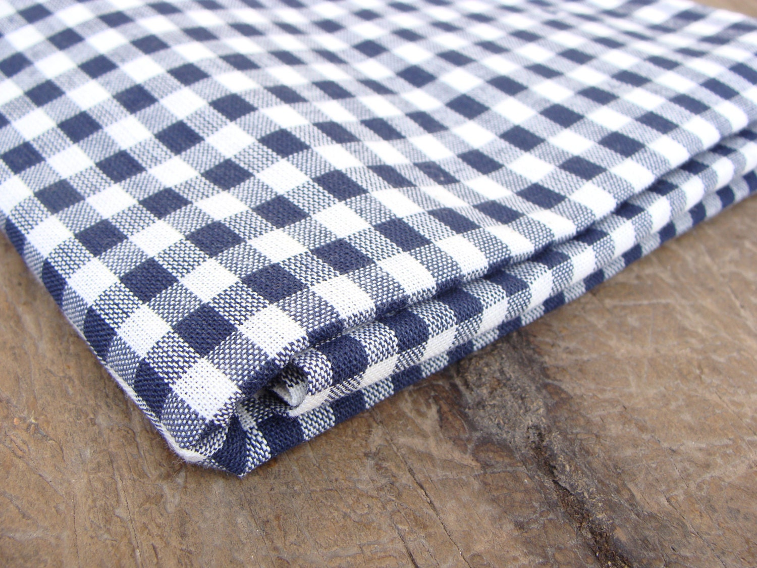 Blue gingham fabric plaid fabric check fabric 1 yard for Gingham fabric
