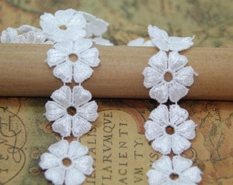 Flower Lace Trim, Venice Lace Trim, Off White Flower Lace