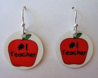 TEACHER EARRINGS - Custom Charm Earrings - Fun!!! Great Gift
