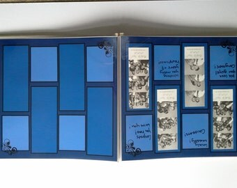 Wedding Photo Booth Guest Book (blue)