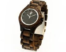 Hoentjen Dutch design, wood watch - Java (with Seiko movement)