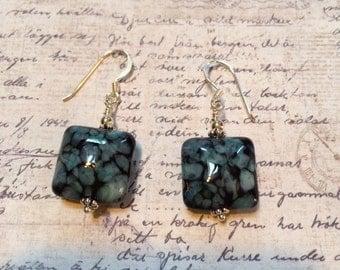 Black & Blue Earrings