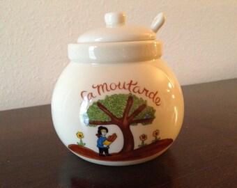 REDUCED - La Moutarde mustard jar – Gallery Originals 1984