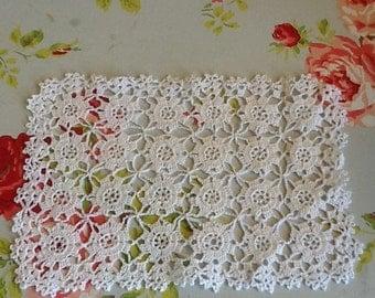 White cotton doily
