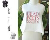 Vintage 1980s Reworked Dead Poets Society Movie Crop Top Tank Top
