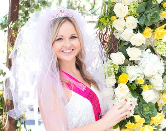Bachelorette Veil - Bridal Shower, Bachelorette Party Veil, Vegas style, extra full, extra pouffy veil, Fun Veil, Vegas Bride