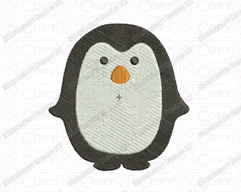 Mini Penguin Embroidery Design in 1x1 2x2 3x3 and 4x4 Sizes