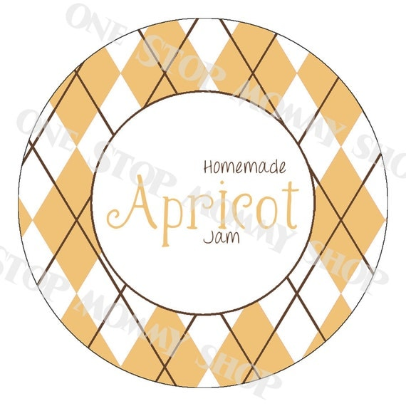 Items Similar To Printable Apricot Jam Canning Lid Labels