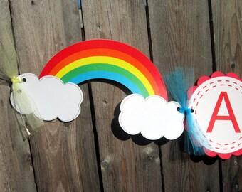 Rainbow Banner -  Rainbow Birthday Banner - 3D