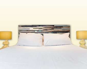 Queen Headboard Color Lath Reclaimed Wood