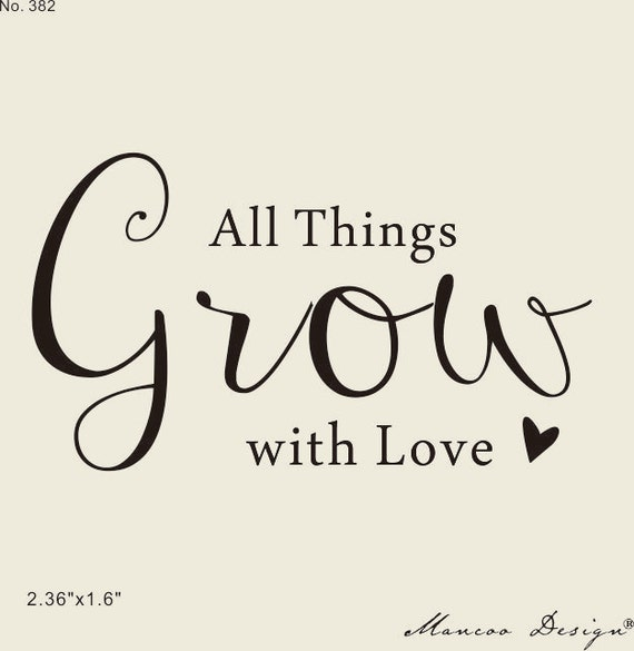 Calligraphy custom Stamps -Let Love Grow e Stamp - Wedding Favor Stamp ...