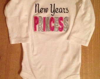 New Years Princess Shirt or Baby Bodysuit