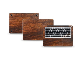 "Macbook Pro 13"" DECAL Sticker Skin Kit 3M Wood series by Stickerboy-Set 5"