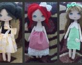 E-pattern, pdf tutorial, pdf cloth doll, DIY, cloth doll, how to make cloth doll, how to paint the face,3 ways to decorate a cloth doll