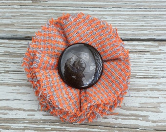 Vintage poppy hair clip / pin