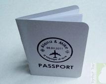Passport Style Wedding Program
