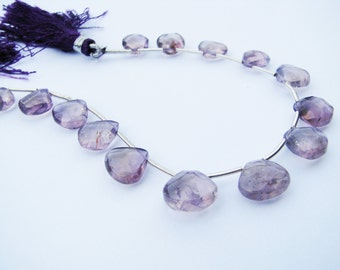 Faceted Trapezoid Amethyst beads 12 x 12mm  Sold per strand (appx 15 beads)