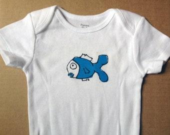 Fish onesie etsy for Fishing shirt onesie
