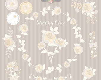 Shabby Chic Rose Champagne, Clipart romantic paper, shabby chic clipart, romantic, rose, rose clipart, romantic clipart