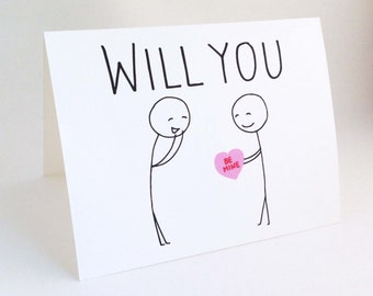 Cute Gay Valentine Card // Funny Valentines Day For Him // Love Card For