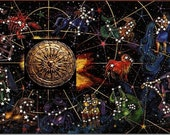 Cosmic passport or astrological birth chart.