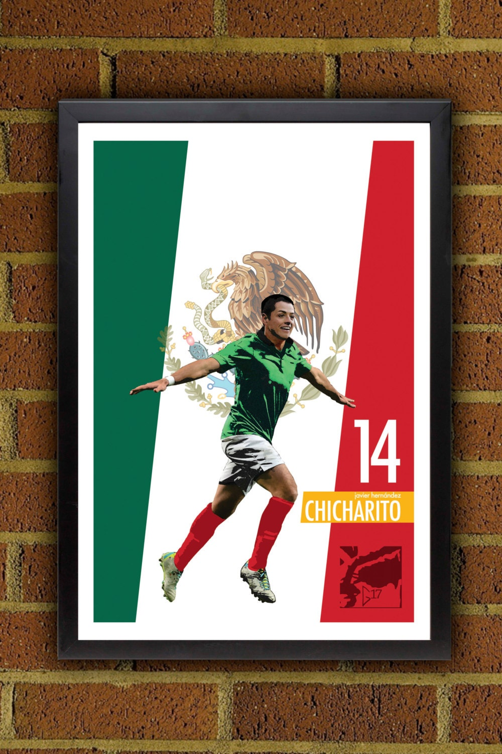 Javier Chicharito Hernández Poster Mexico Poster by Graphics17