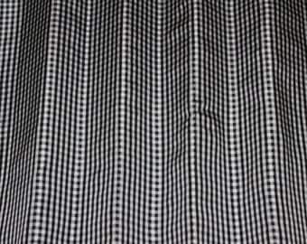 "Black & White Checks on 100% Silk Taffeta, 44"" Wide, By The Yard (SD-626)"