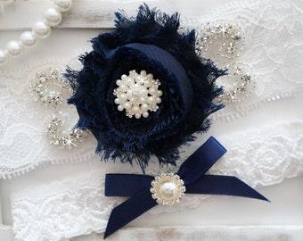 Wedding Garter Set, Bridal Garter Set, Vintage Wedding, Lace Garter, Style 1305