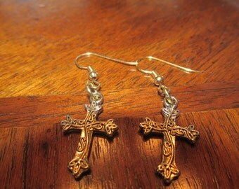 Gold Vine Cross