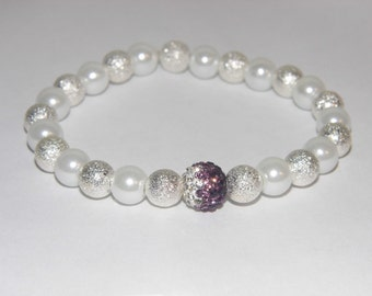 Purple Ombre Stretch Bracelet