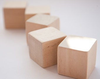 1 3/4 inch (4,5 cm) Unfinished Wood Blocks for wood crafts, wooden cubes, wood blocks, Great for Baby Showers