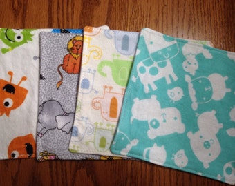 Baby Flannel Wipes, Set of 20: Reusable Wipes, Make Up Removal Wipes, Boys, Girls, Gender Neutral, Adults