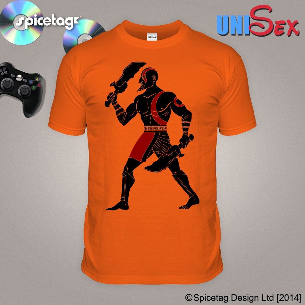 Video Game Inspired T-shirt Kratos Tshirt Videogame Tee GOW