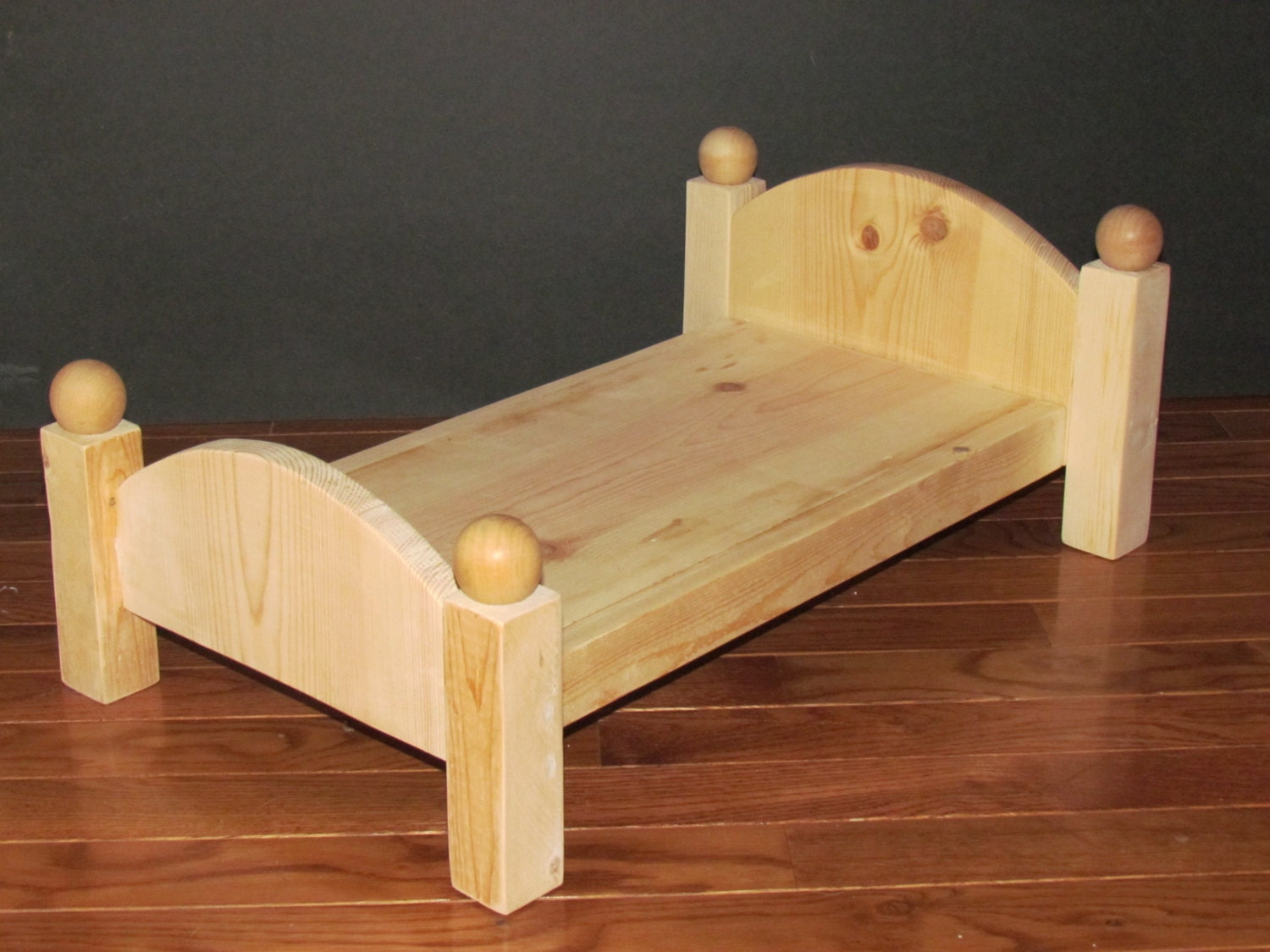 Handmade Wooden Doll Bed 20 Inches Long