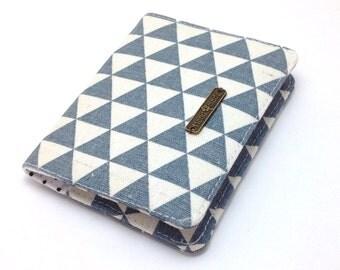 Grey Wallet. Business Card Holder. Credit Card Holder. Slim Wallet. Small Fabric Wallet. Card Wallet. Business Card Case. Ladies Wallet.