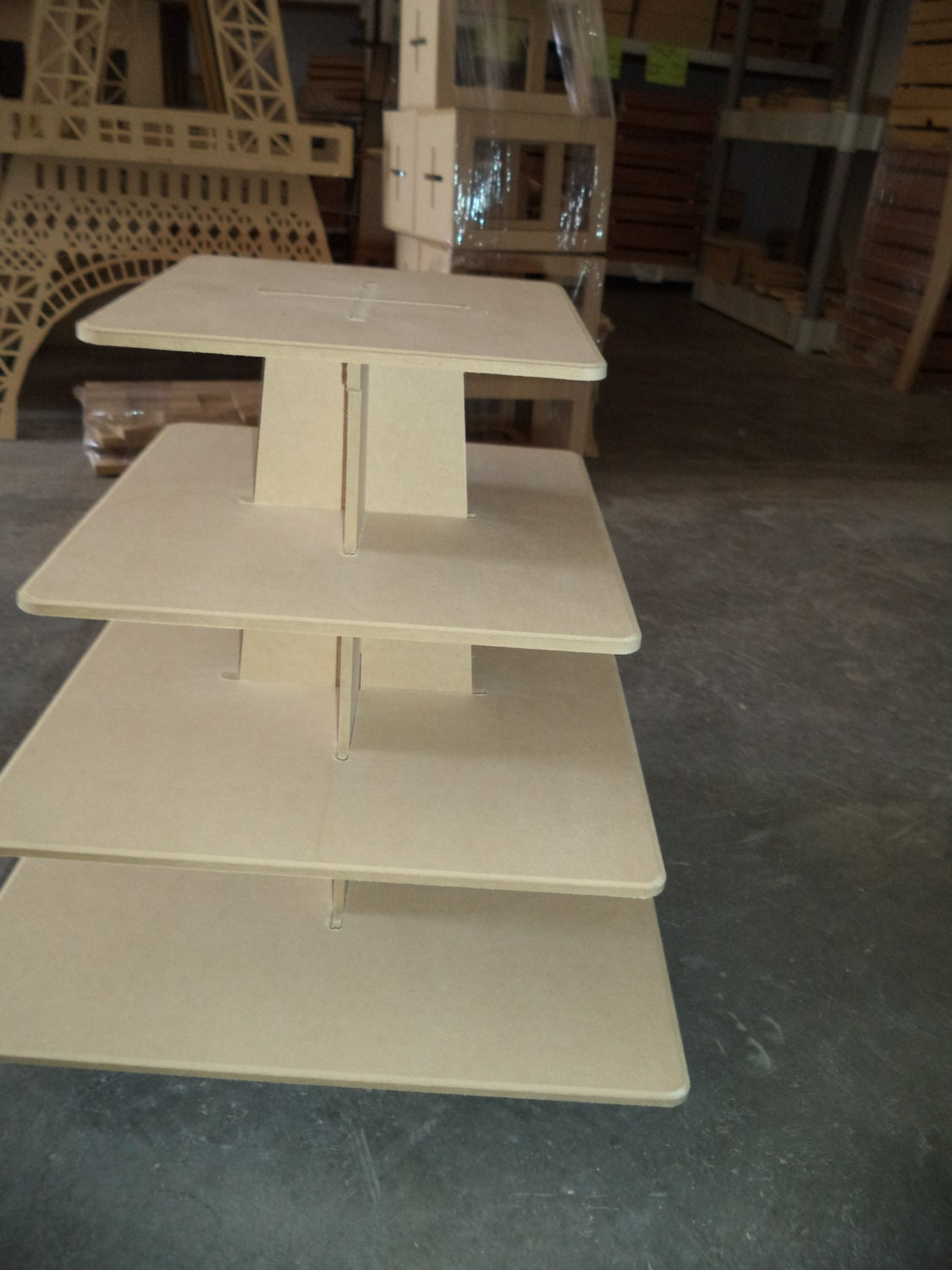 how to make a 4 tier square wedding cake 4 tier cupcake stand xl square shape made of wood easy 15788