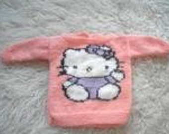 sweet knitted sweater with image