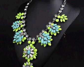 Fashion Necklace, Women Fashion Necklace, Multicolor Necklace, Statement Necklace