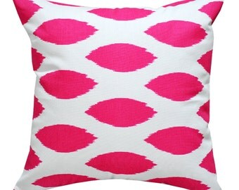 Chipper Candy Pink Cushion Cover. Pillow Cover.