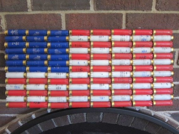 "Shotgun Shell American Flag 22 x 10.5"" Patriotic Wall Decor"
