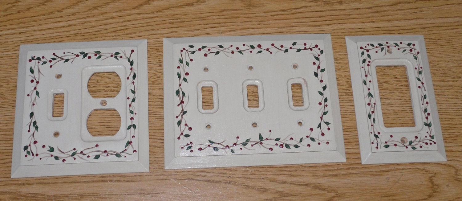 Custom Painted Switch Plate Outlet Covers By