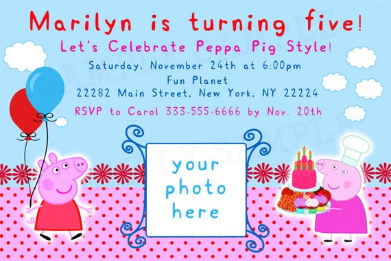Peppa Pig Invites is great invitations example