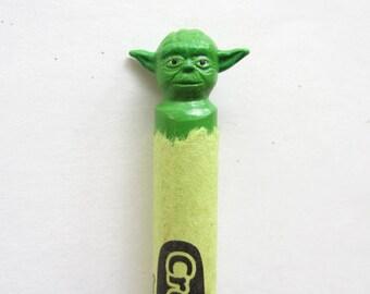 Star Wars Yoda carved crayon