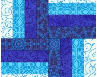 Rail Fence Paper Piece Foundation Quilting Block Pattern (easy)