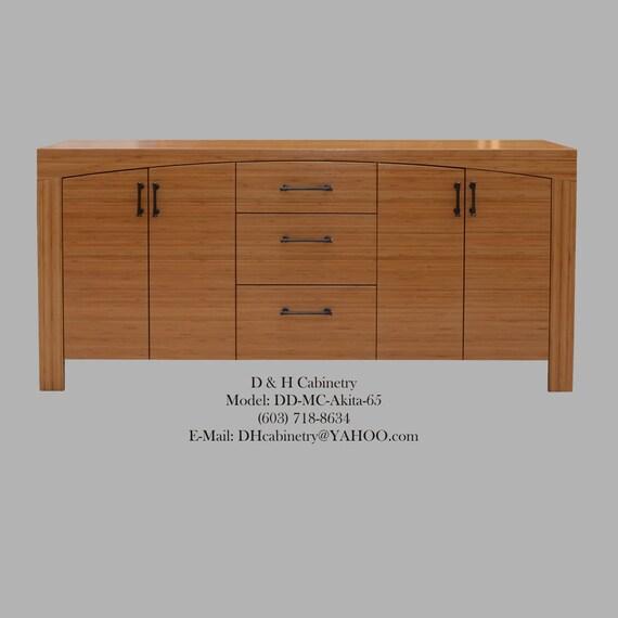 Items similar to 60 72 modern bamboo bathroom vanity for Modern bamboo bathroom vanity